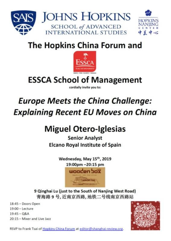 Event - May 15th, 2019 (Shanghai) - Europe Meets the China Challenge